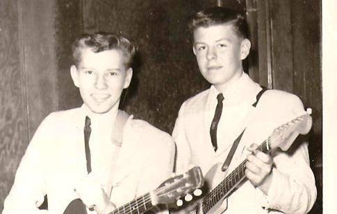 Grouse and me back in our early rock and roll days.